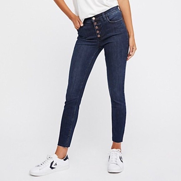 Free People Denim - Free People Reagan Button Front Jeans